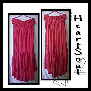 ♾Strapless bohemian style dress